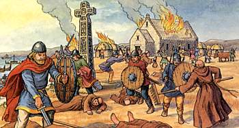 why did the vikings invade england In england, the beginning of the viking age is dated to 8 june 793, when vikings destroyed the abbey on lindisfarne, a centre of learning on an island off the northeast coast of england in northumberland.